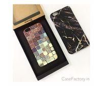 Spiral box /Golden marble black phone case