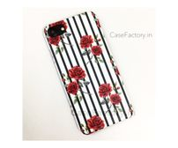 Red Roses vertical Stripe Phone Case