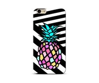 Pine-apple black Phone Case