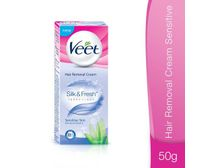 Veet Silk & Fresh Hair Removal Cream - Sensitive Skin, 50 gm