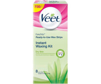Veet Waxing Kit Full Body - Dry Skin, 8 Strips