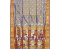 Lavender Paithani Pure Silk Handloom Saree Special Pallu p0179