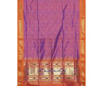 Magenta Paithani Pure Silk Handloom Saree Single Pallu p0183