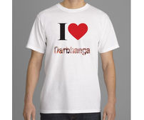 I Love Darbhanga T-Shirt (White) Mithila Painting