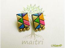 Terracotta Jewelry - Terracotta Earring TEC101c