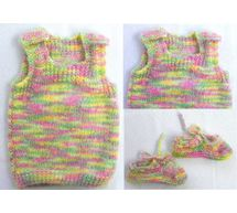 0 - 3 Month Handmade Baby Woolen Sweater Set BS00