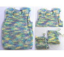 0 - 3 Month Handmade Baby Woolen Sweater Set BS000