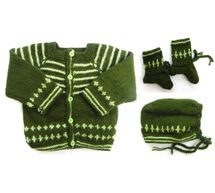 0 - 3 Month Handmade Baby Woolen Sweater Set BS002