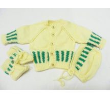 6 - 8 Months - Handmade Baby Woolen Sweater Set BS09