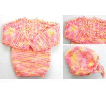 6 Months -  Handmade Baby Woolen Sweater  Set BS18