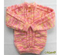 6 Months -  Handmade Baby Woolen Sweater  Set BS15