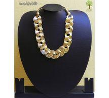 Contemporary Golden Entangled Necklace EAJ11