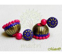 Terracotta Earring - Designer Jhumka TEC418