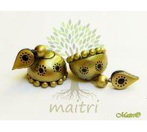Terracotta Earring - Designer Jhumka TEC424a