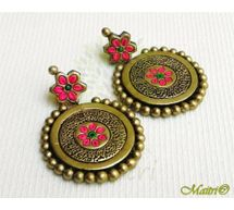 Terracotta Earring - Stud Dangler-Exclusive TEC401