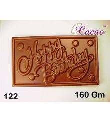 Happy Birthday Rectangle-Chocolate Mould