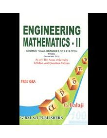 Engineering Mathematics 2 | G.Balaji