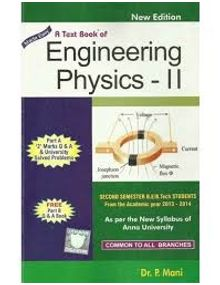 Engineering Physics 2 | P. Mani