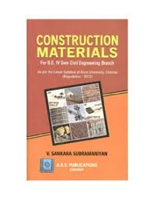 Construction Materials | V.Sankara Subramaniyan