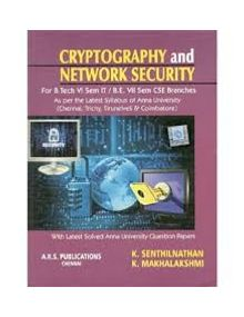 Cryptography and Network Security | Senthilnathan & Mahalakshmi