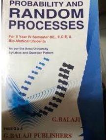 Probability and Random Process | G Balaji