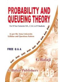 Probability and Queueing Theory | G.Balaji