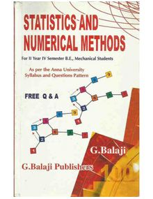 Statistics and Numerical Methods | G.Balaji