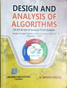 Design And Analysis Of Algorithms | V. Sathya Preiya