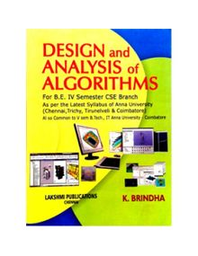 Design and Analysis of Algorithms | Brindha