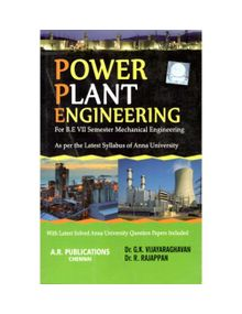 Power Plant Engineering | Dr.G.K.Vijayaraghavan and Dr.R.Rajappan | Mechanical