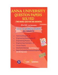 Anna University Solved Question Papers - BIOMEDICAL - 2nd Sem