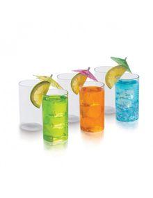 CRYSTAL CLEAR GLASS BIG (SET/6)     SIGNORAWARE