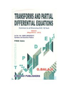 Transforms And Partial Differential Equations | G. Balaji