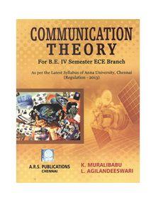 Communication Theory | K.Muralibabu L.Agilandeswari