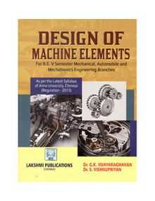 Design Of Machine Elements   Dr.G.K.Vijayaraghavan