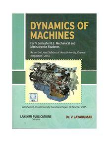 Dynamics Of Machines | Dr.V.Jayakumar