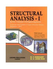 Structural Analysis 1 | Dr.V.Ramasamy