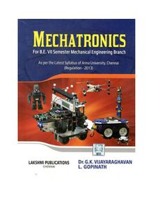 Mechatronics | Dr.G.K.Vijayaragavan, L.Gopinath