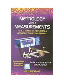Metrology And Measurements | Vijayaraghavan