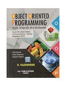 Object Oriented Programming   K.Kajendran