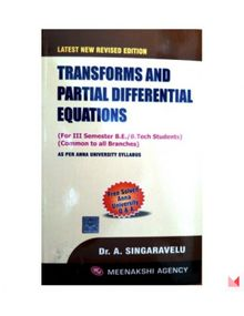 Transforms and Partial Differential Equations | Dr.A.Singaravelu