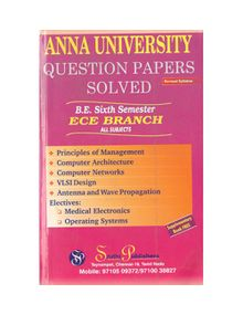 Anna University Solved Question Papers - ECE 6th Sem