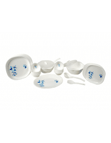 DINNER SET 31PCS. SQUARE DESIGN NO. 4  || SIGNORAWARE - DINNER SET RANGE