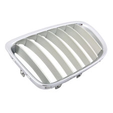 KMH OEM Replacement Grill For BMW X1 (E84) -Set Of 2Pcs (Outer Chrome with Silver Fins)