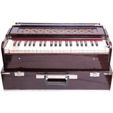 03 - SG Musical Folding/Box Type Harmonium , A440, 42 Keys, Coupler Function