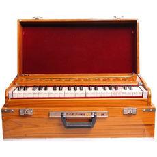 002 - SG Musical Folding Safri Harmonium Yellow, A440, 42 Keys, Coupler/Box Harmonium