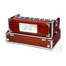 SG Musical Folding Safri Harmonium Rosewood, A440, 42 Keys, Coupler