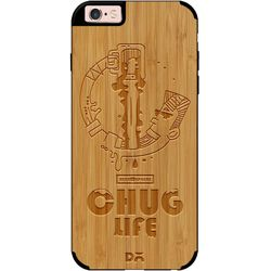 Beer Chug Life Real Wood Bamboo Case For iPhone 6S