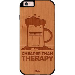 Beer Cheap Therapy Real Wood Cherry Case For iPhone 6S
