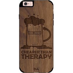 Beer Cheap Therapy Real Wood Maple Case For iPhone 6S